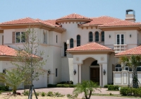 clay smooth tile roof