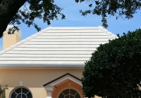 smooth white tile roof