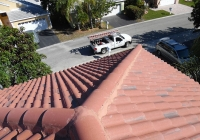 red spanish tile roof